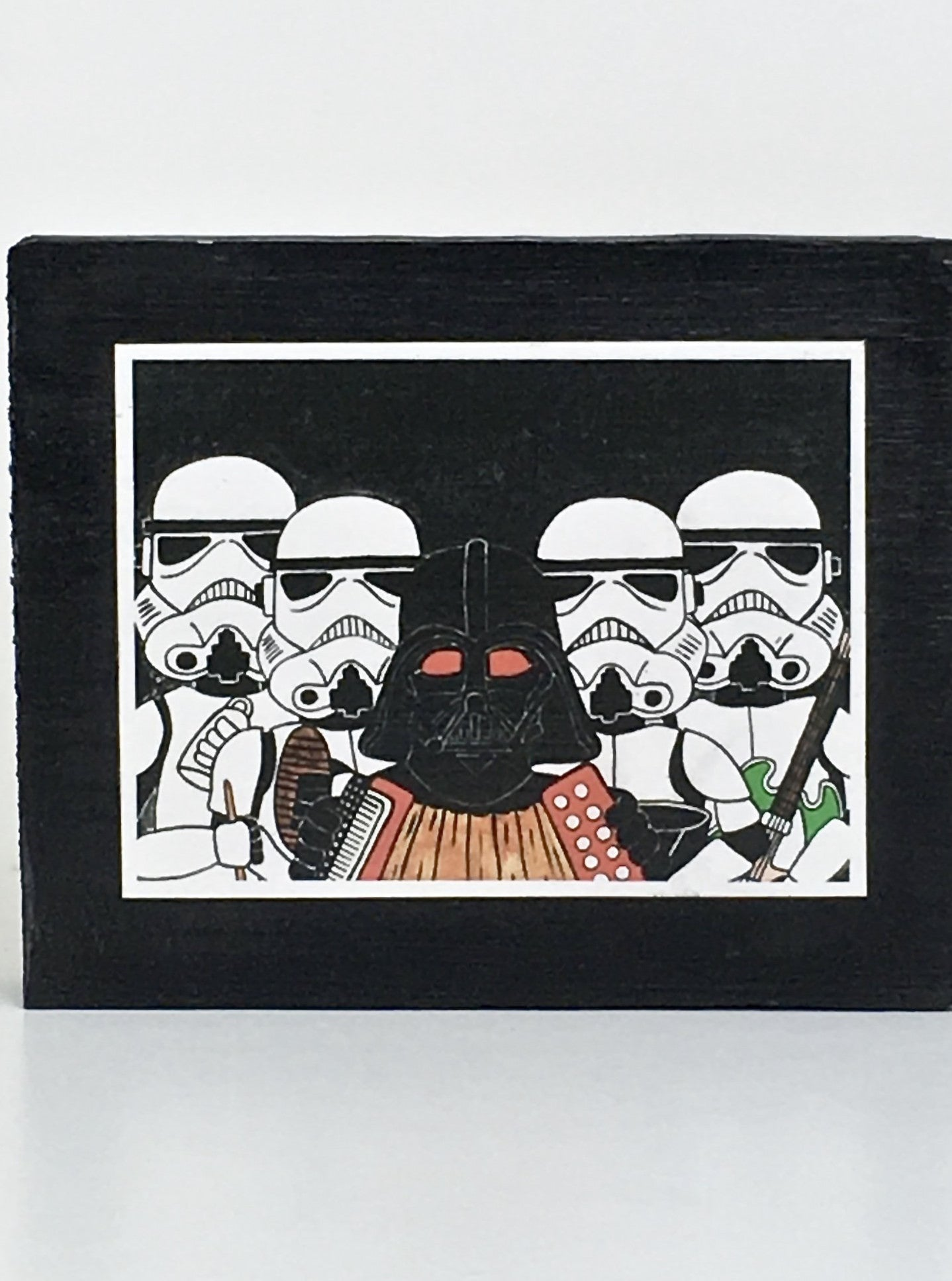 Star Wars inspired collectible art tile by Ninoska Arte