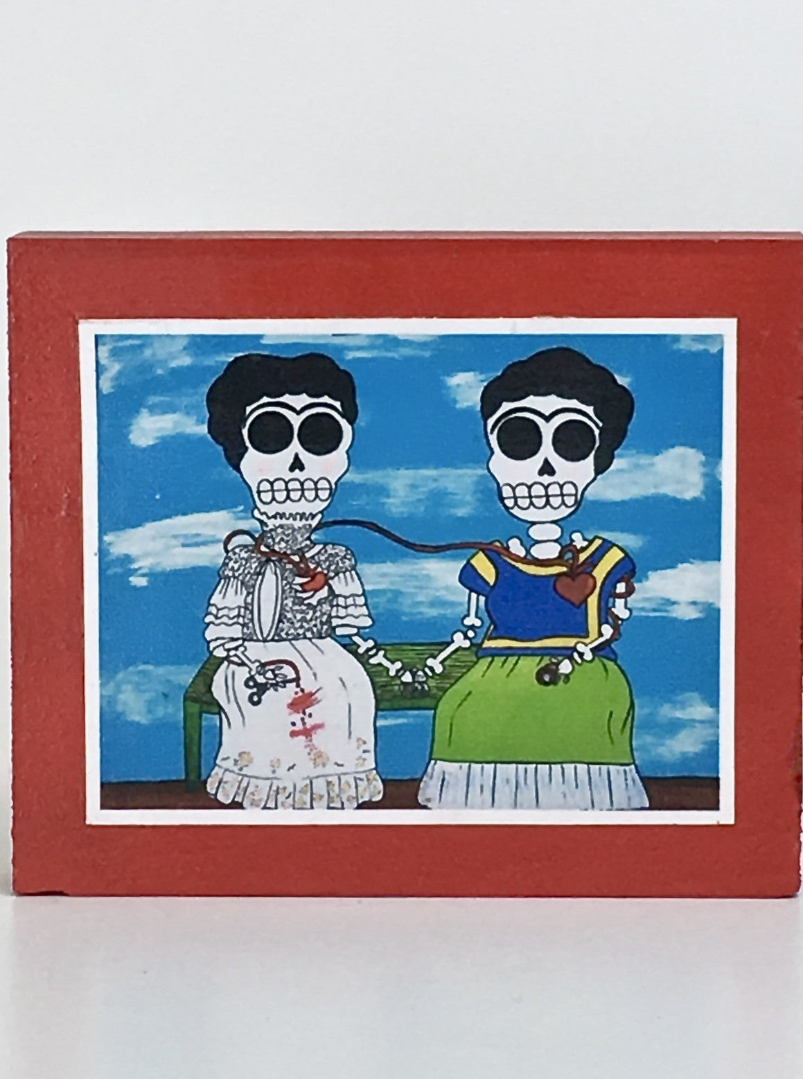 Dos Fridas inspired collectible art tile by Ninoska Arte
