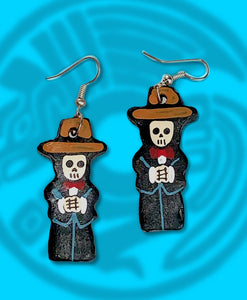 Dia de muertos dead Mariachi dangle earring