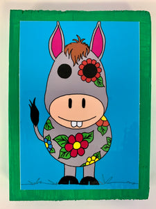 Barnyard Animals Donkey collectible art tile by  Ninoska Arte