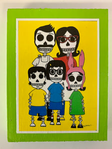 Bobs burgers inspired collectible art tile by Ninoska Arte
