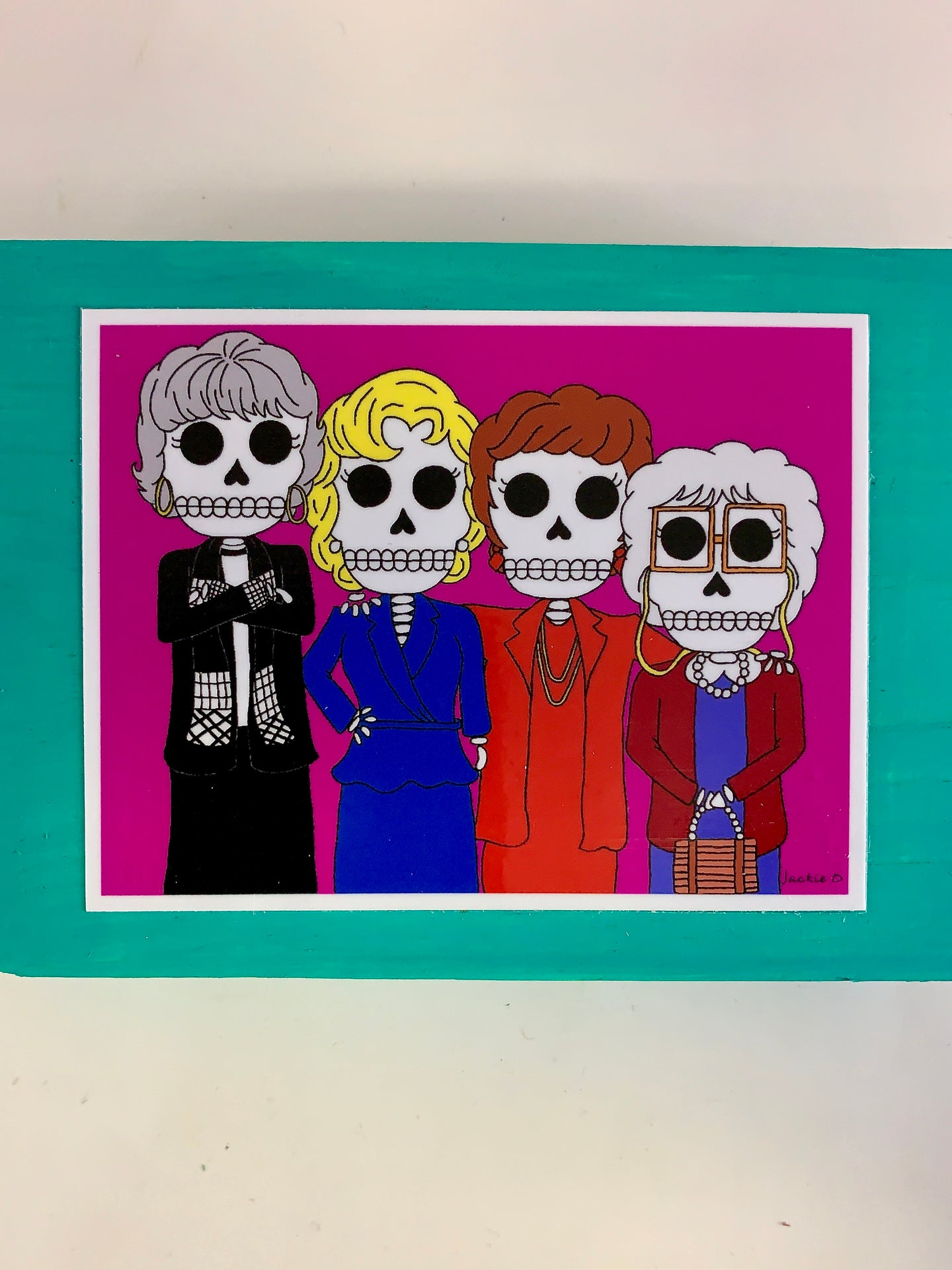 Golden Girls inspired collectible art tile by Ninoska Arte