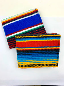 Sarape genuine rare Mexican textile handcrafted unisex billfold wallet