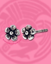 Tiny flowers sterling silver stud post earrings