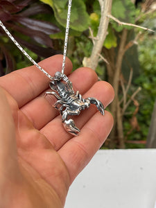 Scorpion King sterling silver 3D pendant
