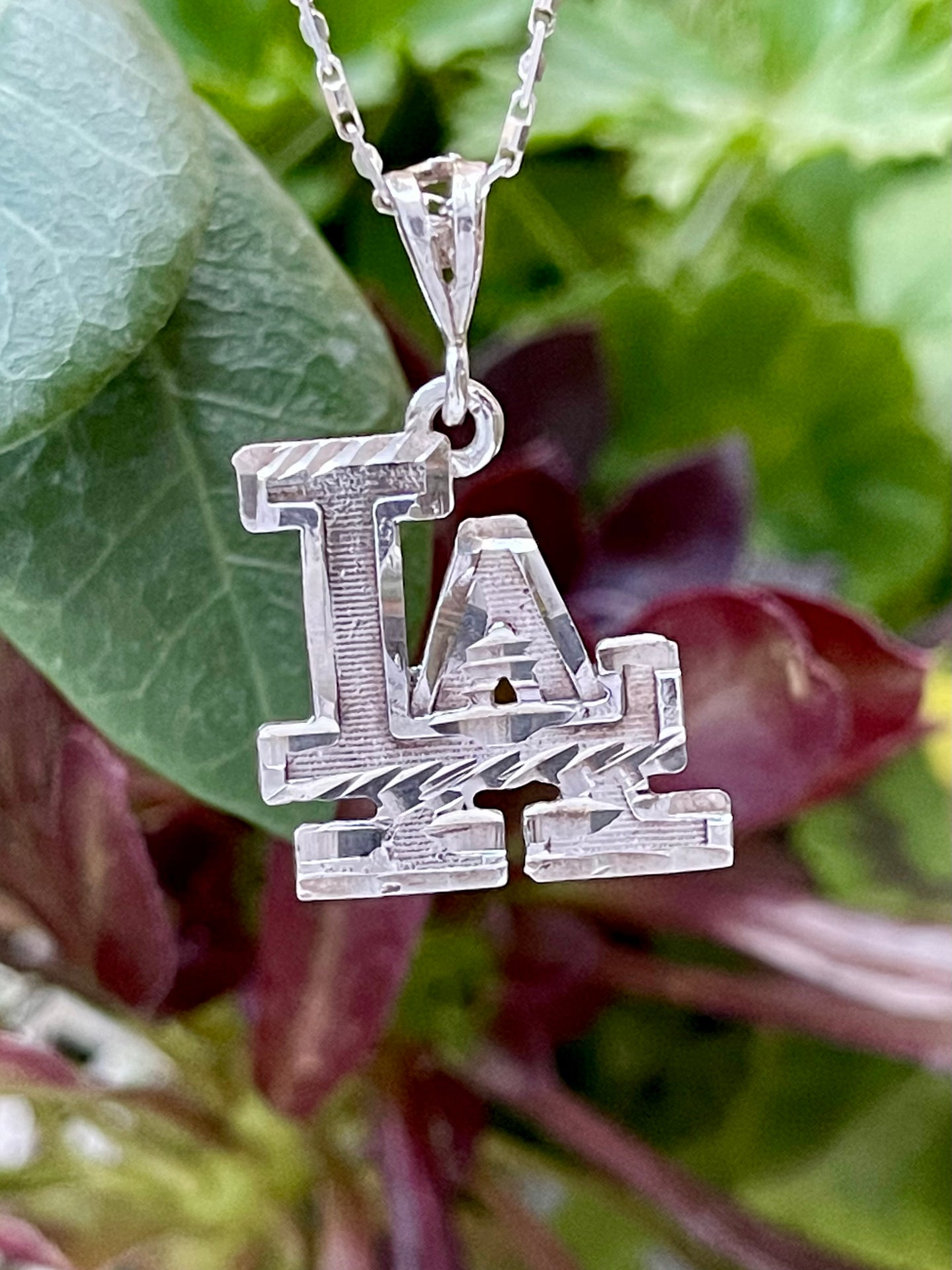 Los Angeles LA sterling silver pendant