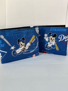 Los dodgers Baseball mickey handcrafted billfold style wallet