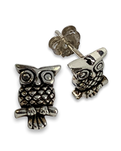 Owlitos post earrings in sterling silver