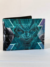 Black panther print handcrafted billfold style wallet and set