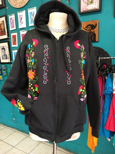 Embroidered hoodie black size XL/2X