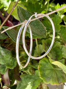 Solid hoop earrings in sterling silver