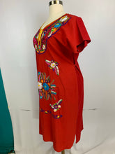 Huipil bordado traditional Mexican Oaxaca style embroidery dress plus size 20