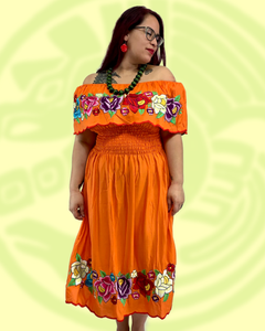Maxi dress in Mango multicolor embroidery