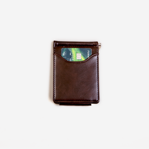 GUBINTU Cowhide Leather Wallet with Money Clip