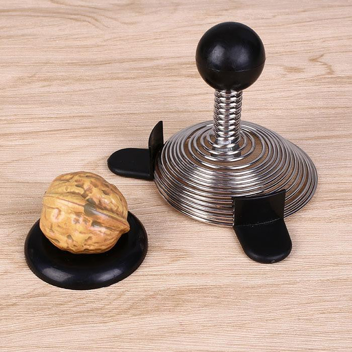 Spring Shaped Walnut Nutcracker