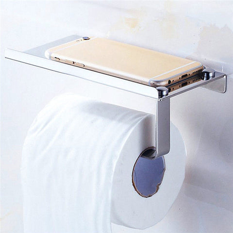Toilet Paper Holder with Mobile Phone Holder