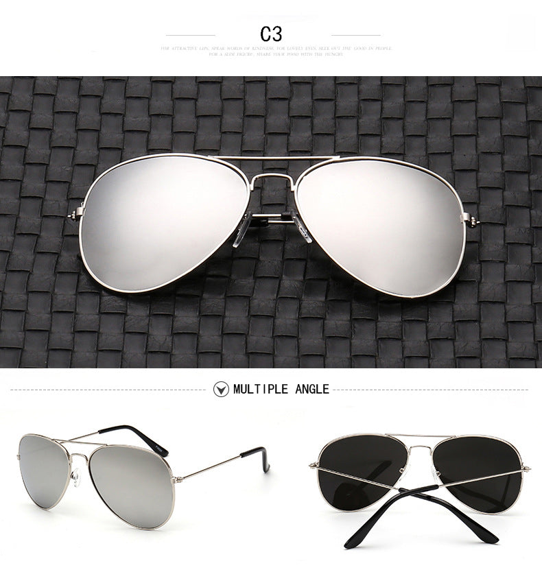 """Runway"" Aviator Sunglasses with Polycarbonate Lenses"