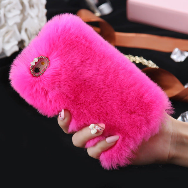 Luxury Rabbit Fur Case for iPhone