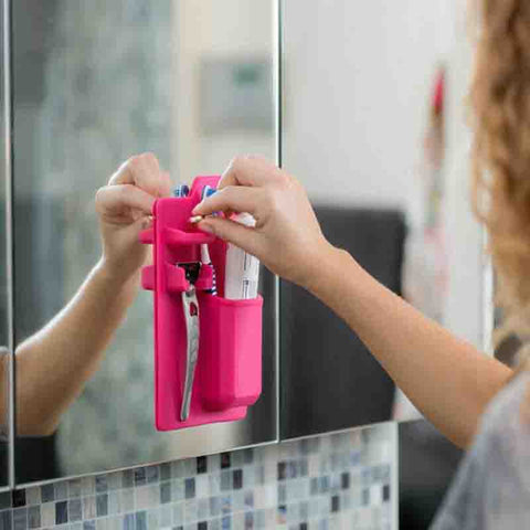 Silicone Bathroom Organizer and Toothbrush Holder