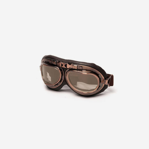 Steampunk Copper Motorcycle Helmet Glasses