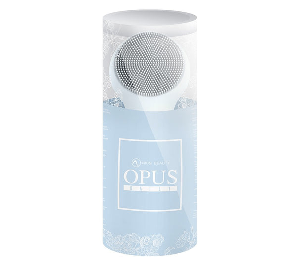 Opus daily, super charged negative ion silicone brush, cleansing and anti aging skin lifting surfaces.