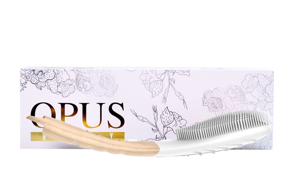 Opus Body, get gorgeous, glowing skin from head to toe, a silicon body brush featuring S-ion technology and kinetic skin cleansing