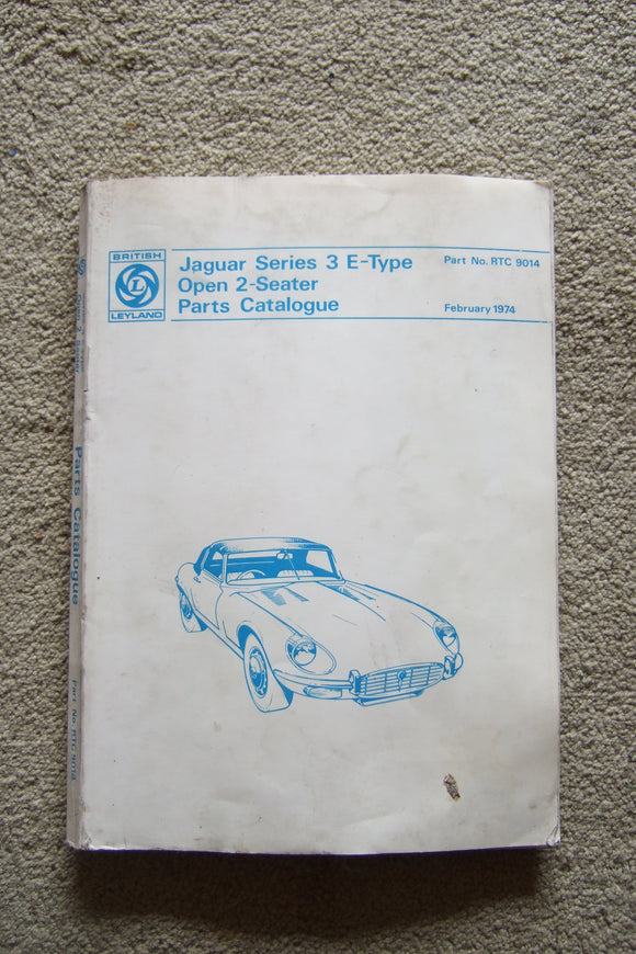 Jaguar Series 3 E-Type Open 2 Seater