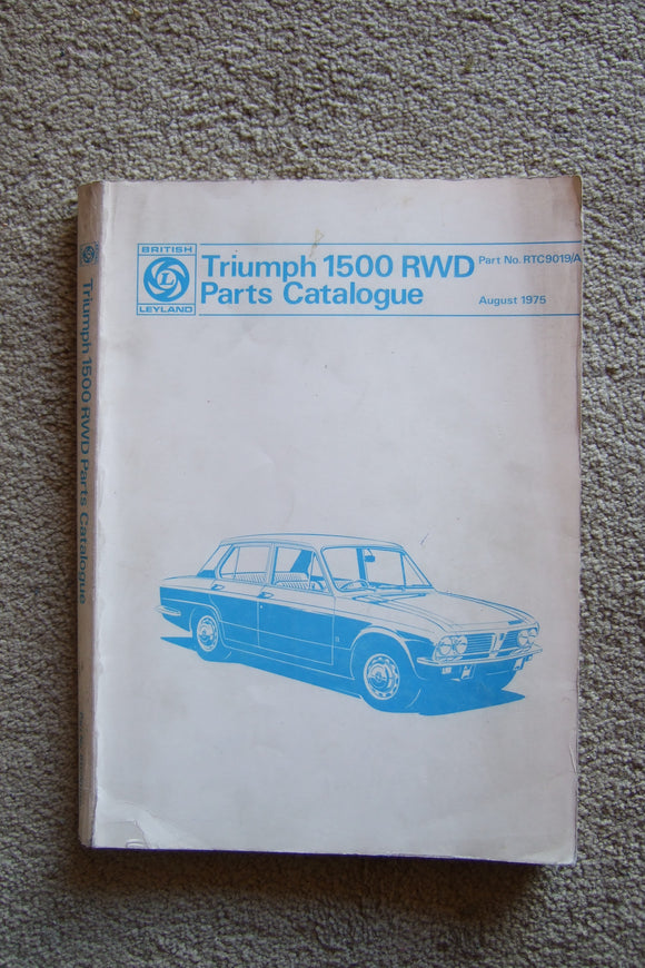 Triumph 1500 RWD parts catalogue