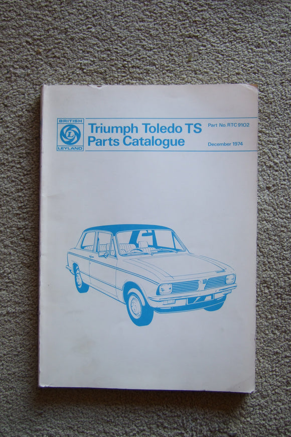 Triumph Toledo TS parts catalogue