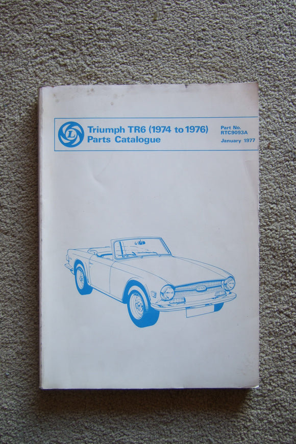 Triump TR6 1974-76 Parts Catalogue