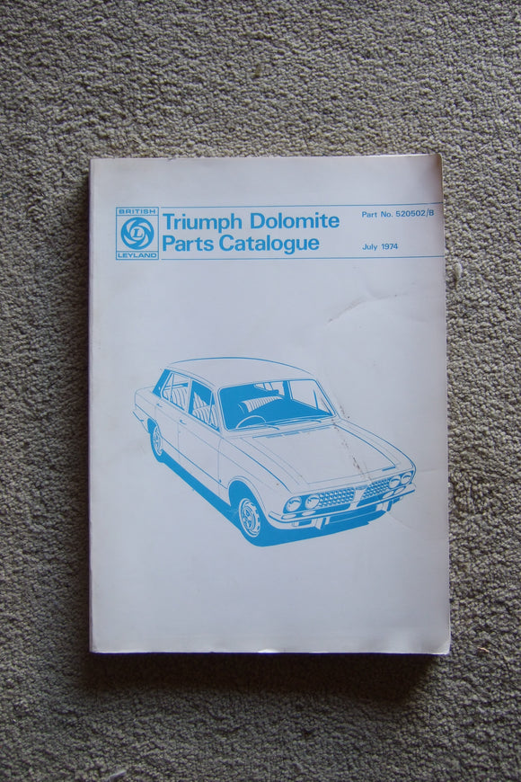 Triumph Dolomite Parts Catalogue
