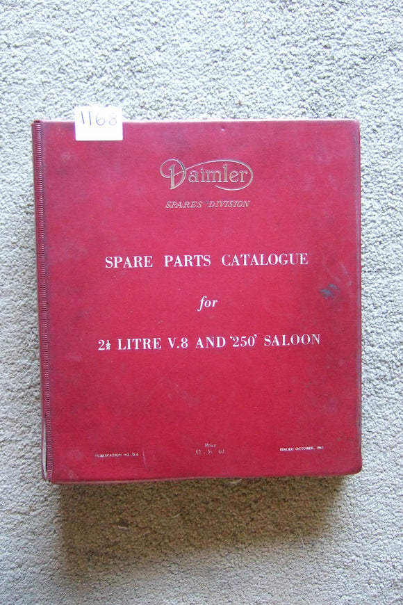 Daimler 2.5L V8 and 250 Saloon Spare Parts Catalogue