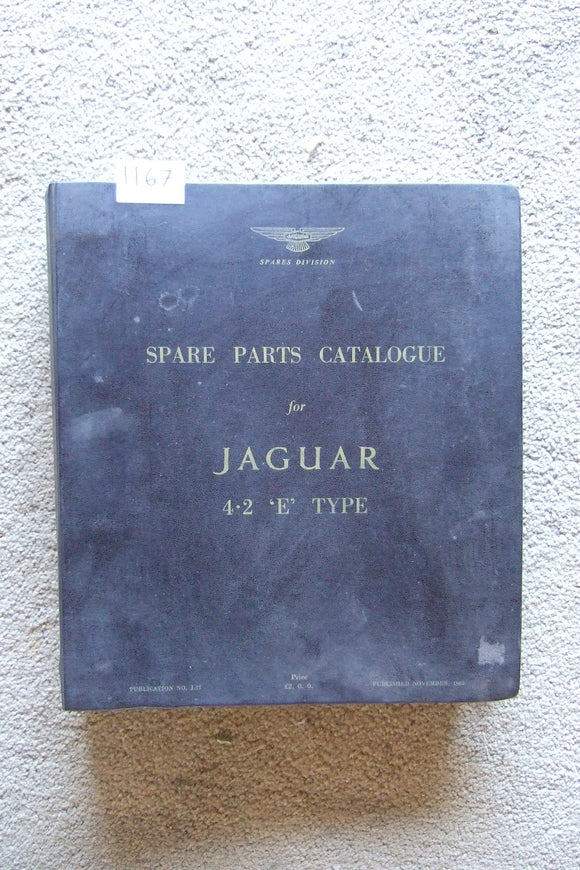 Jaguar 4.2 E Type Spare Parts Catalogue