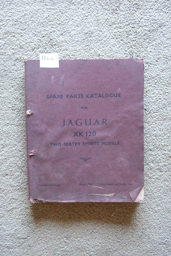 Jaguar XK120 2 Seater Sports Model Spare Parts Catalogue