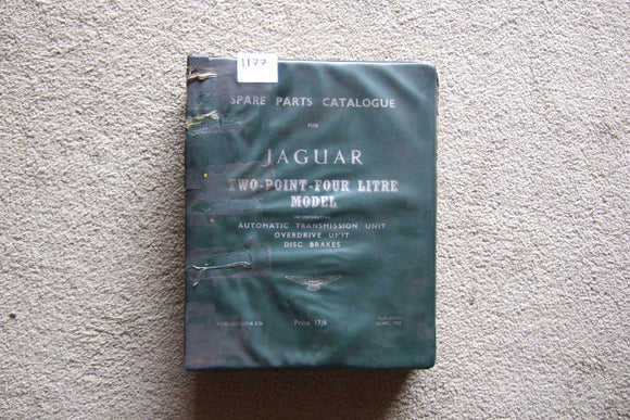 Jaguar Two Point Four Litre Model Spare Parts Catalogue