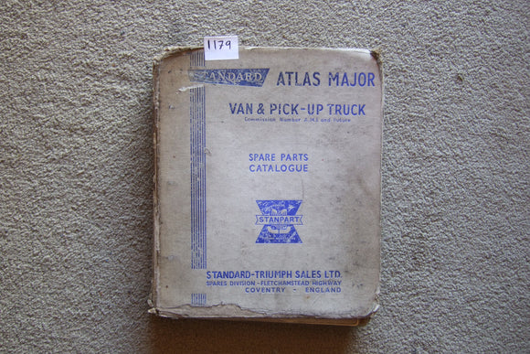 Triumph Atlas Major Van and Pickup Spare Parts Catalogue