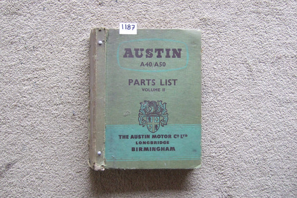 Austin A40 / 50 Parts List Vol.2 Book