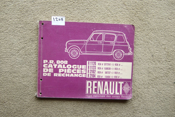 Renault R1120, 1123, 2102, 2104 (FRENCH) Parts Catalogue