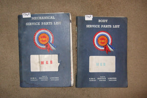 MGB Mechanical & Body Service Parts List Books
