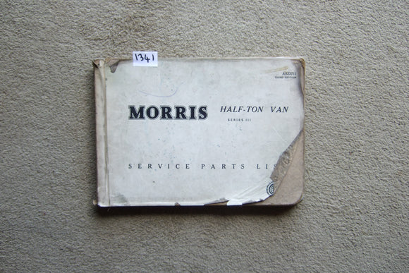 Morris Half Ton Van Series 3 Service Parts List
