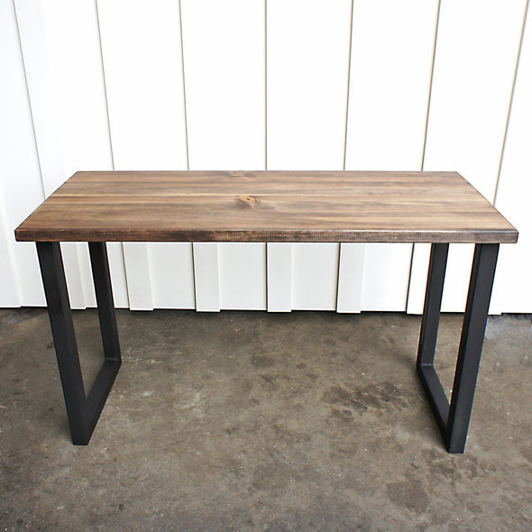 Table, Wood Table, Mid century modern table, Espresso Wood, U Legs