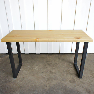 Table, Wood Table, Mid century modern table, Natural Wood, U Legs