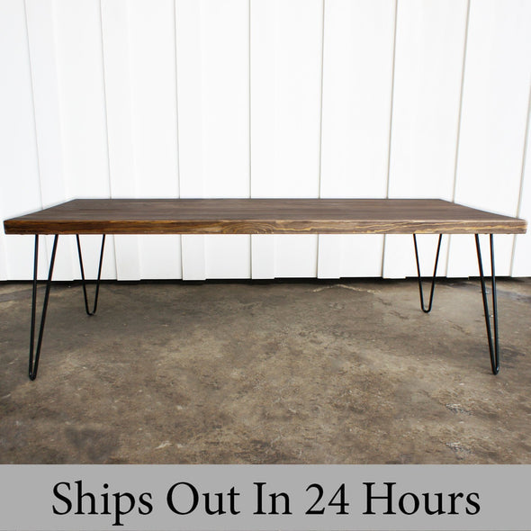 Table, Wood Table, Mid century modern table, Espresso Stained, Coffee Table