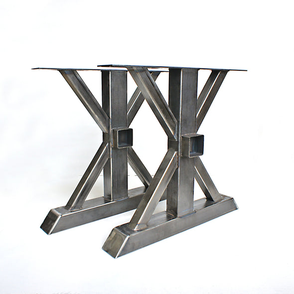 Steel Table Legs, Trestle, DIY Table legs, Wood beam receptacle