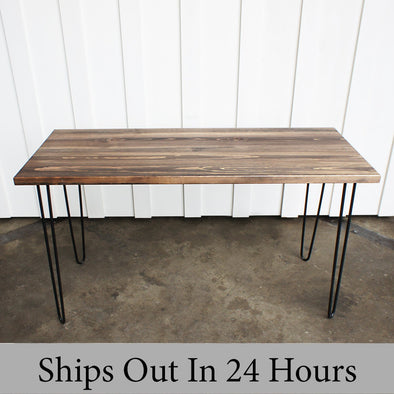 Table, Wood Table, Mid century modern table, Espresso Stained