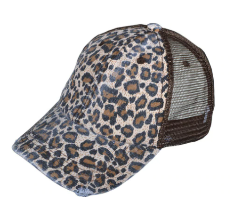 Leopard Snap Back Hat