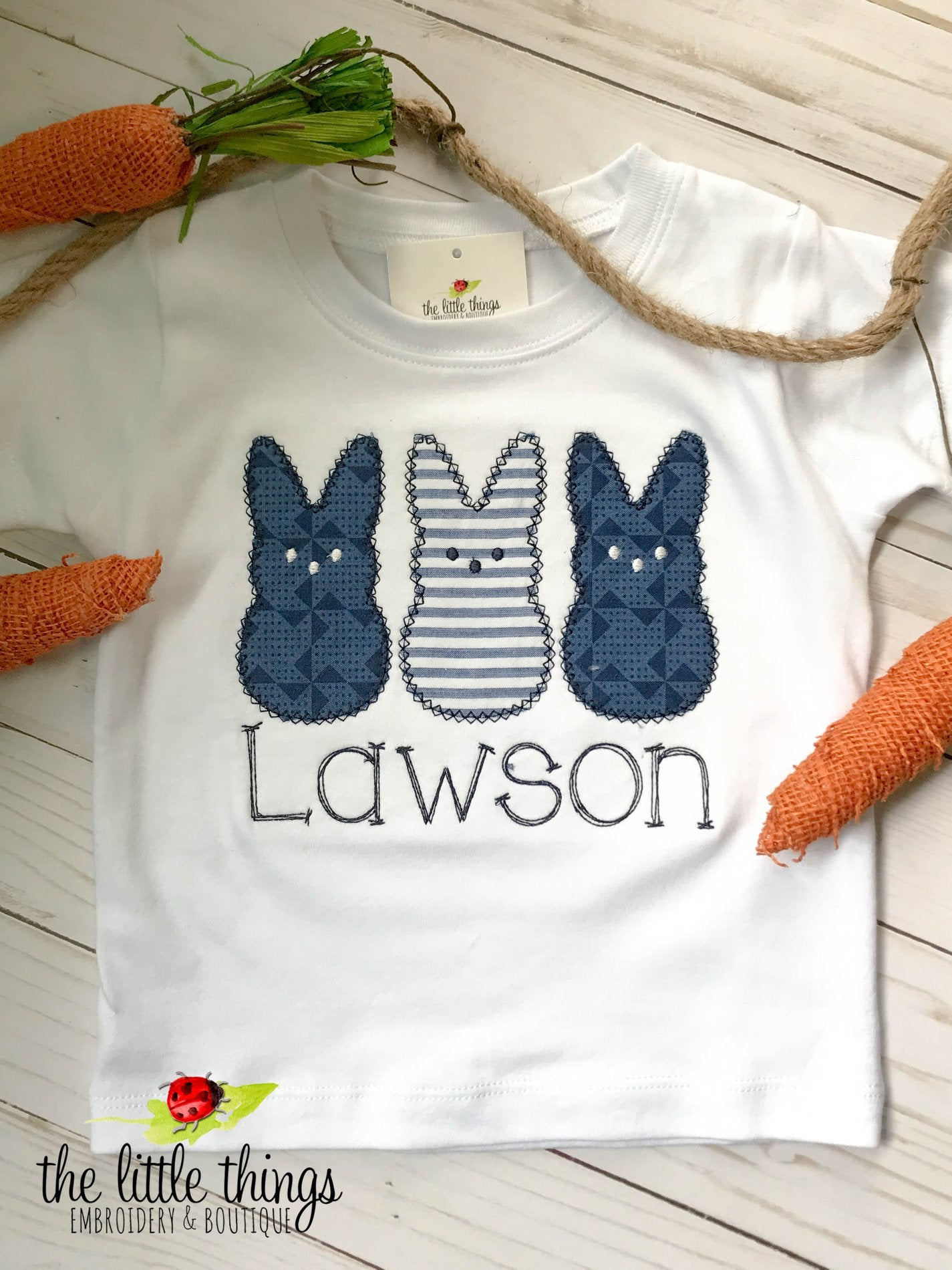 Navy Easter Bunny Trio