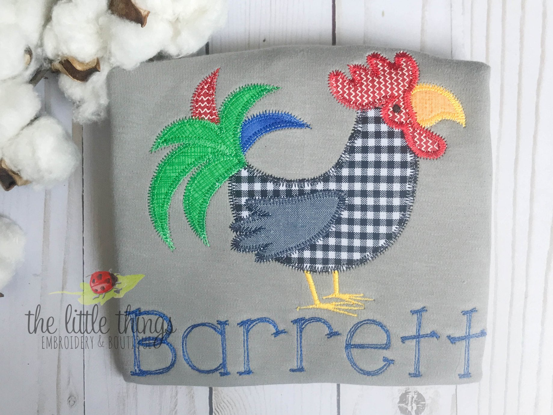 Funky Rooster on Grey