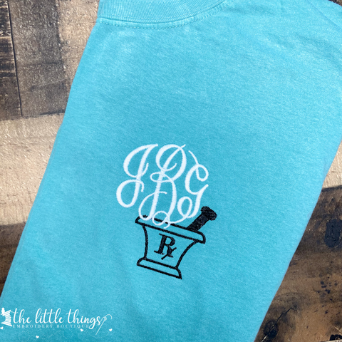 Pharmacy Monogram Tee or Sweatshirt
