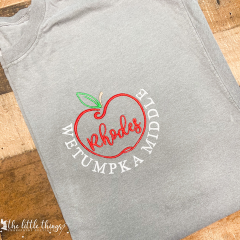 Teacher Apple Tee or Sweatshirt